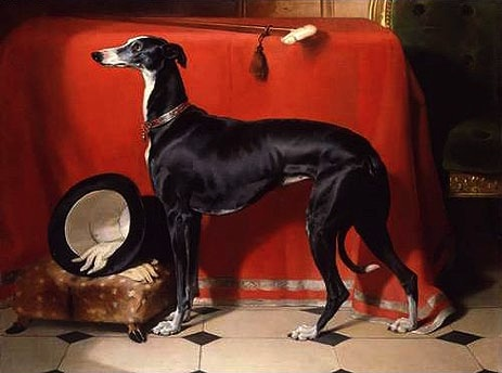 Sir Edwin Landseer, Eos, A Favorite Greyhound, the property of H.R.H. Prince Albert, 1841, oil on canvas, 111.8 x 142.9 cm cm (The Royal Collection)