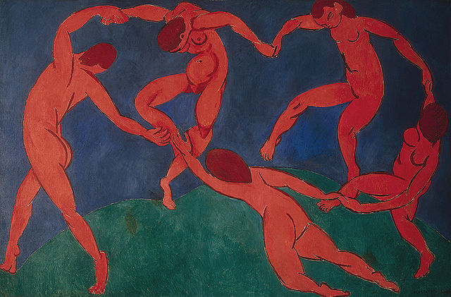 Henri Matisse, Dance, 1910, oil on canvas, 260 x 291 cm (The Hermitage, St. Petersburg)
