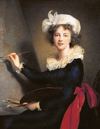 Élisabeth Louise Vigée-LeBrun, Self-Portrait, 1790, oil on canvas, 100 x 81 cm (Galleria degli Uffizi, Florence)
