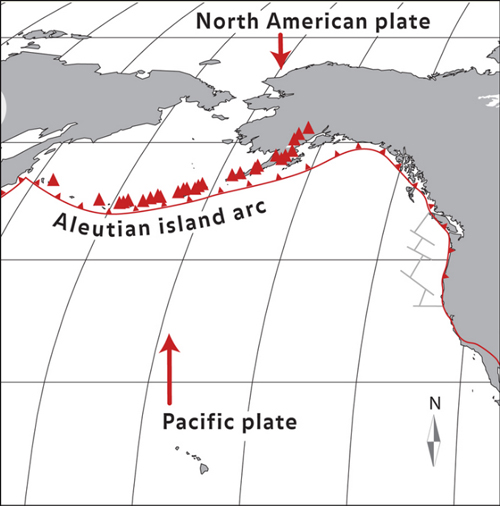 Answers to exploration questions plate tectonics article khan answer the pacific plate is sinking beneath the north american plate forming a subduction zone along the plate boundary shown as the red line with gumiabroncs Images