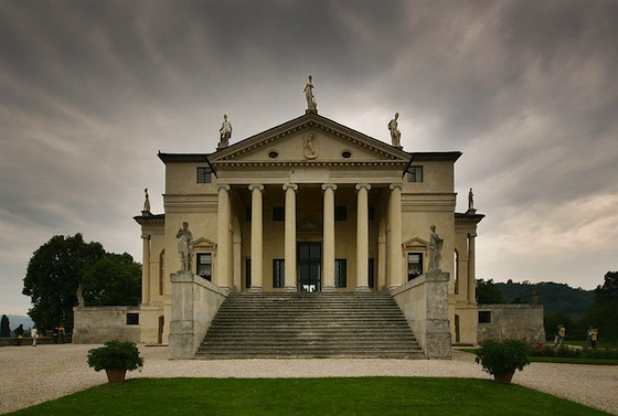 Andrea Palladio with modifications by Vicenzo Scamozzi, Villa Rotonda (formerly Villa Capra), 1566-1590s, near Vicenza, Italy (photo: Stefan Bauer CC BY-SA 2.5)