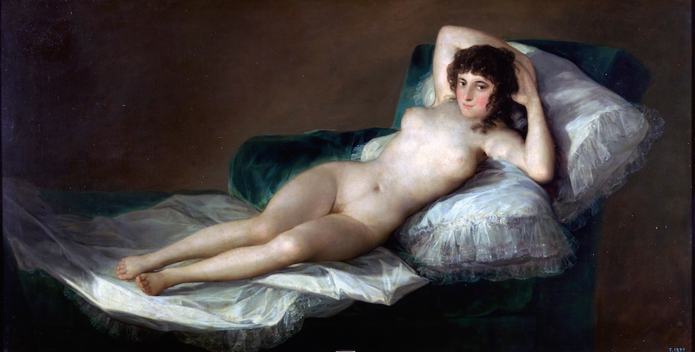 Francisco Goya, La maja desnuda, c. 1797–1800, oil on canvas, 98 x 191 cm (Prado, Madrid)