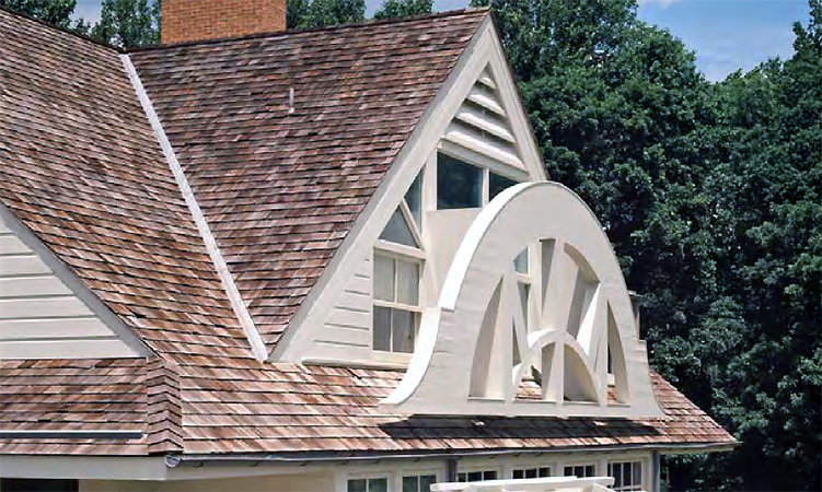 Robert Venturi, John Rauch, and Denise Scott Brown, gable detail, House in New Castle County, Delaware, 1978-83 (photo: © Venturi, Scott Brown Collection/The Architectural Archives, University of Pennsylvania/detail of photo by Matt Wargo)