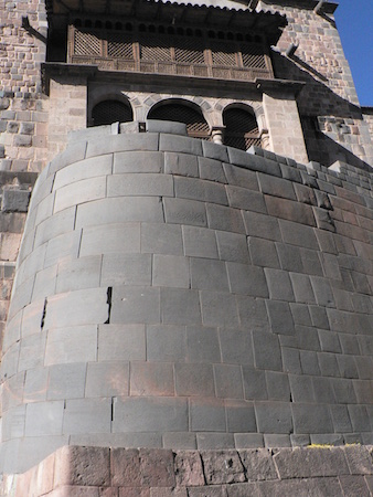 Remains of the Qorikancha, Inka masonry below Spanish colonial construction of the church and monastery of Santo Domingo, Cusco, Peru, c. 1440 (photo: Sarahh Scher, CC BY-NC-SA 2.0)