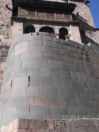 Remains of the Qorikancha, Inka masonry below Spanish colonial construction of the church and monastery of Santo Domingo, Cusco, Peru, c. 1440 (photo: Sarahh Scher, CC BY-NC-SA 2.0)