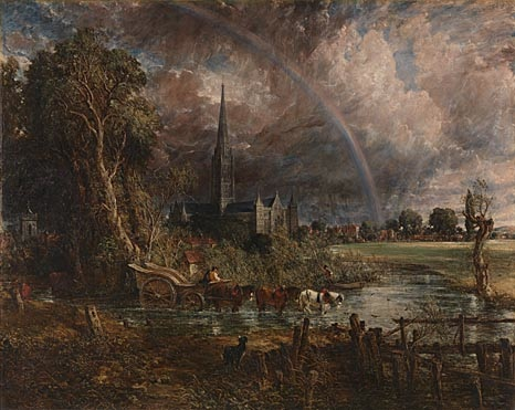 John Constable, Salisbury Cathedral from the Meadows, 1831, oil on canvas, 151.8 x 189.9 cm (National Gallery, London, on loan from a private collection)