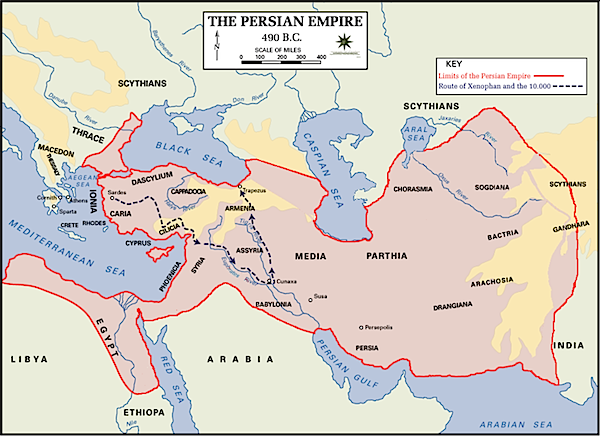 The Persian Empire, 490 B.C.E.
