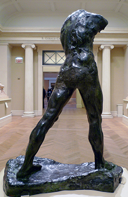Auguste Rodin, The Walking Man, 1907, cast made by Fonderie Alexis Rudier in 1913, bronze, 213.5 x 71.7 x 156.5 cm (Musée Rodin, Paris)