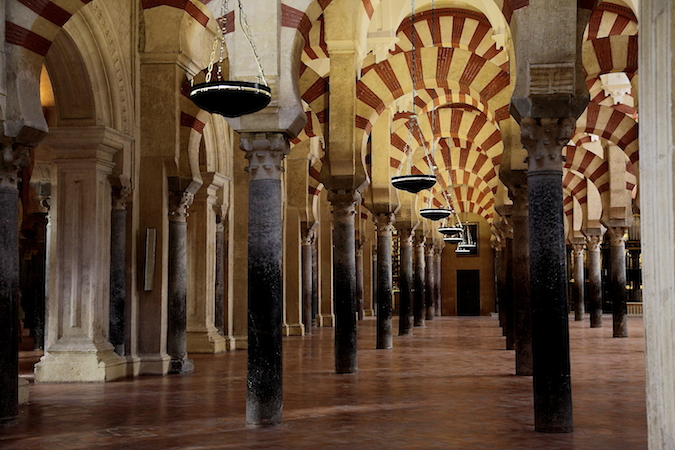 Hypostyle Hall, Great Mosque at Cordoba, Spain, begun 786 and enlarged during the 9th and 10th centuries