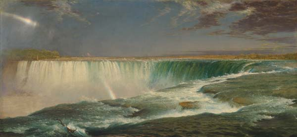 Frederic Edwin Church, Niagara, 1857, oil on canvas, 106.5 x 229.9 cm (Corcoran Gallery of Art)