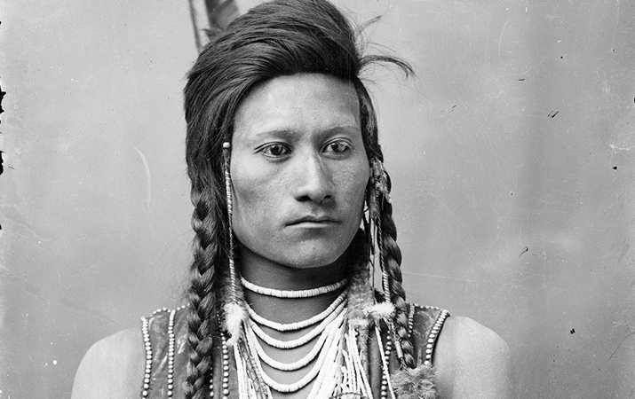Charles S. Baker and Eli Johnston, Portrait of Codsiogo (detail), before 1898, photograph (American Heritage Center, University of Wyoming)