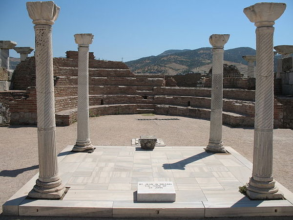 The Tomb of St. John the Apostle from the Basilica of St. John, 6th century, Ephesus, near modern day Selçuk, Turkey