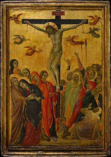 Segna di Buonaventura, The Crucifixion, c. 1315, tempera on panel, 38.4 x 27 cm (The Metropolitan Museum of Art)