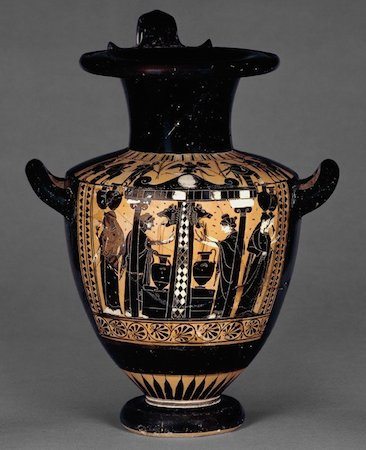 Black-figured water-jar (hydria) with