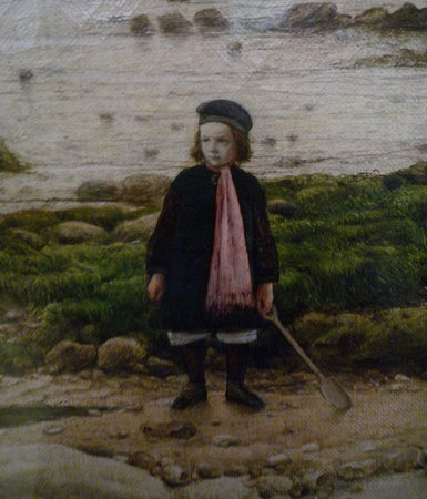 Child in the foreground (detail), William Dyce, Pegwell Bay, Kent - a Recollection of October 5th, 1858, 1858-60, oil on canvas, 63.5 x 88.9 cm (Tate Britain, London) (photo: Steven Zucker, CC BY-NC-SA 2.0)