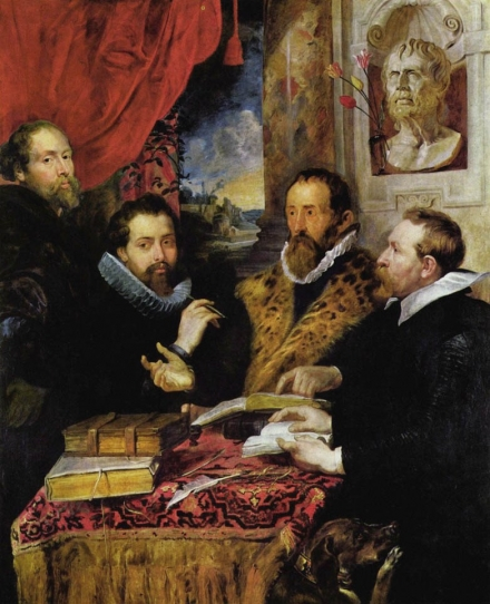 Peter Paul Rubens, The Four Philosophers, c. 1611-12, oil on canvas (Palazzo Pitti, Florence)