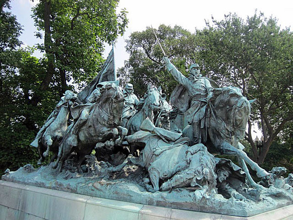 Henry Merwin Shrady (sculptor) and William Pearce Casey (architect), Cavalry Charge, 1916, marble and bronze, Washington D.C.
