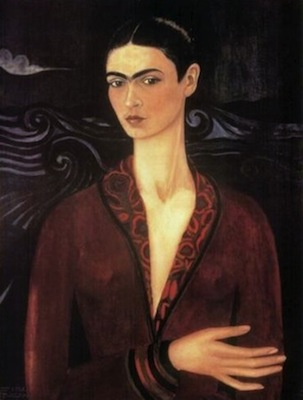 Frida Kahlo, Self-portrait in a Velvet Dress, 1926, oil on canvas (private collection)