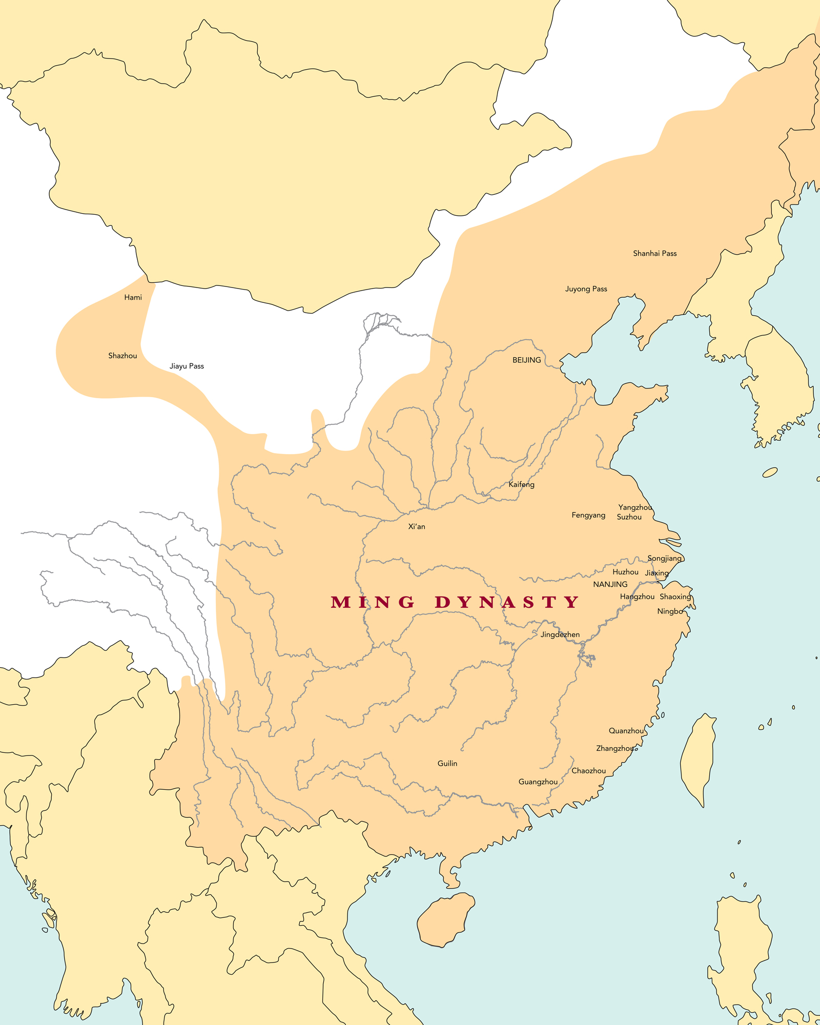 An Introduction To The Ming Dynasty Article Khan - Jingdezhen map