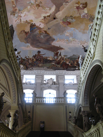 Johann Balthasar Neumann (designer), a view of Apollo and the Continents by the Giambattista and Domenico Tiepolo, Residenz Staircase, completed in 1744 (Residenz Palace, Würzburg, Germany) (photo: paula soler-moya, CC BY-NC-ND 2.0)