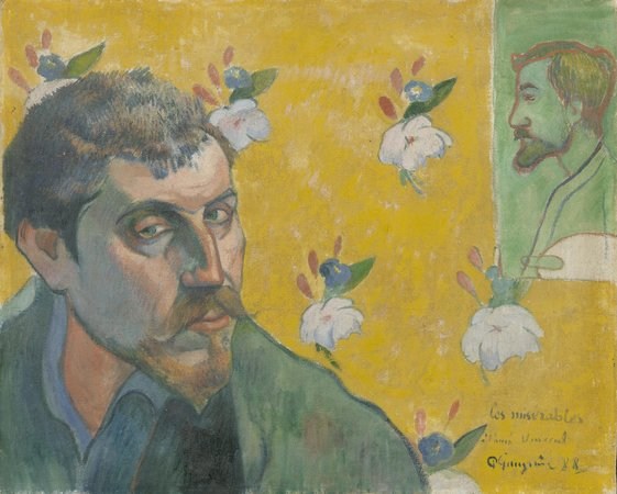 Paul Gauguin, Self-Portrait Dedicated to Vincent van Gogh (Les Misérables), 1888, oil on canvas, 44.5 x 50.3 cm (Van Gogh Museum, Amsterdam)