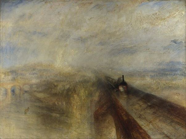 Joseph Mallord William Turner, Rain, Steam, and Speed – The Great Western Railway, oil on canvas, 1844 (National Gallery, London)