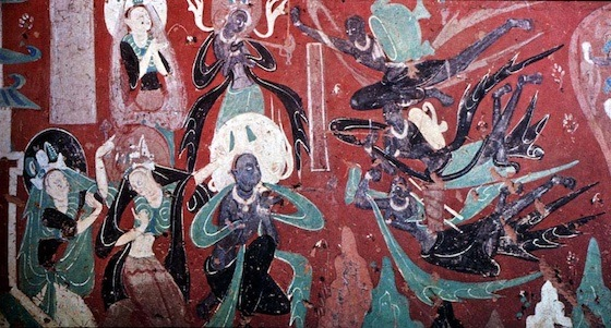 Mural, Cave-temple 257, Dunhuang, Gansu Province