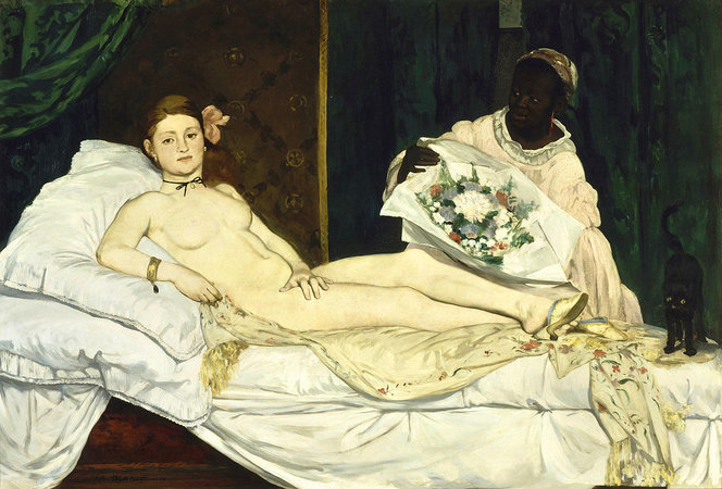 Édouard Manet, Olympia, 1863, oil on canvas, 130.5 x 190 cm (Musée d'Orsay, Paris)