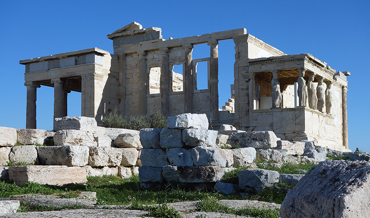 The Erechtheion, 421-405 B.C.E. (Classical Greek), Acropolis, Athens (photo: Steven Zucker, CC BY-NC-SA 2.0)