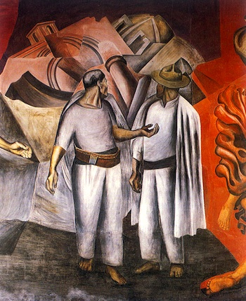 José Clemente Orozco, Destruction of the Old Order (detail), 1926 (National Preparatory School, Mexico City)
