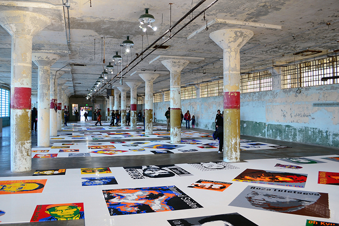 Ai Weiwei, <em>@Large,</em> 2015, Alcatraz, trace, Legos, (photo: Ian Abbott, CC BY-NC-SA 2.0)