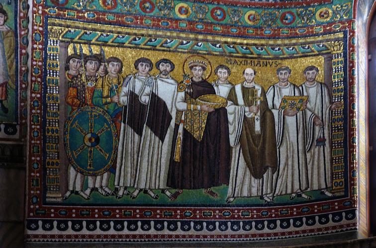 Emperor Justinian Mosaic, San Vitale, Ravenna, c. 546-56
