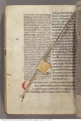 Gilbert, de La Porrée, Commentary on the Pauline Epistles, c. 1160-1200, Harvard, Houghton Library, MS 277, f. 115v