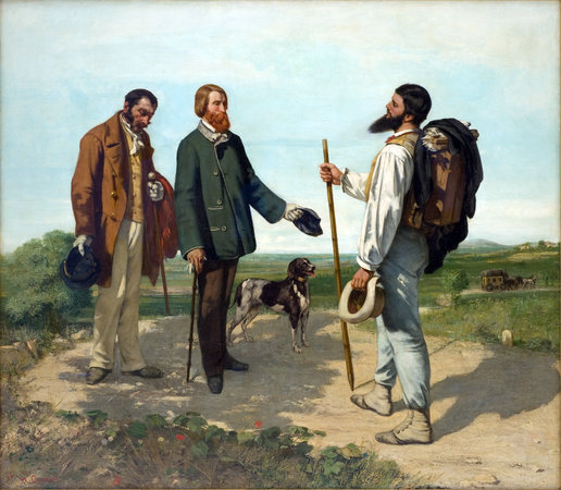 Courbet, The Meeting (Bonjour Monsieur Courbet), 1854, oil on canvas, 129 x 149 cm (Musée Fabre, Montpellier)