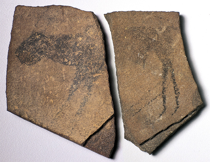 Apollo 11 Cave Stones, Namibia, quartzite, c. 25,500–25,300 B.C.E. Image courtesy of State Museum of Namibia.