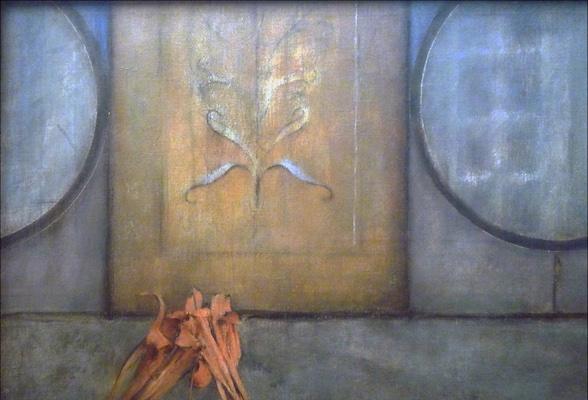 Background (detail), Fernand Khnopff, I Lock my Door Upon Myself, 1891, oil on canvas, 72.7 x 141 cm (Neue Pinakothek, Munich)