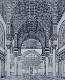 Reconstruction of the Baths of Caracalla (reconstructive drawing from 1899)