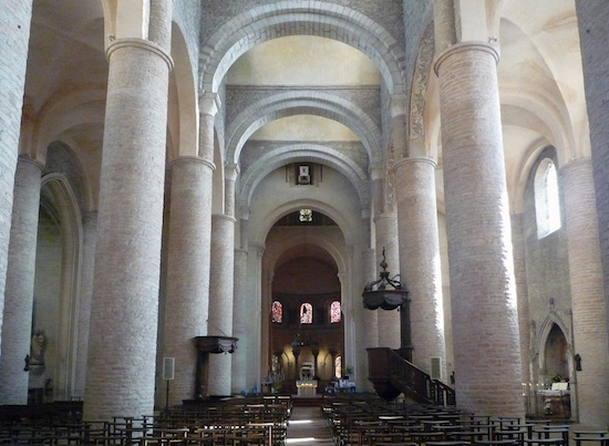 Nave, Tournus Cathedral, 11th century