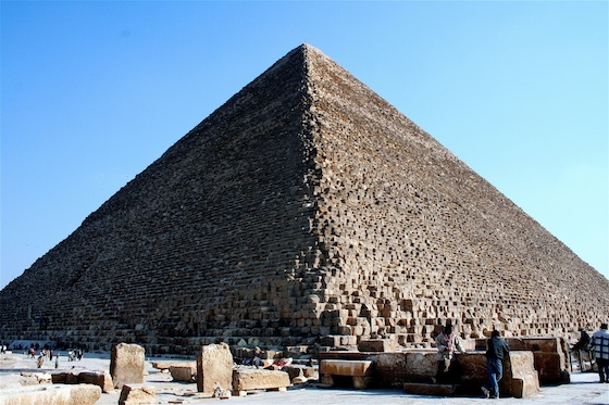 Pyramid of Khufu, c. 2551-2528 B.C.E. (photo: Dr. Amy Calvert)