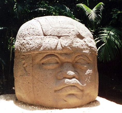 The olmec article ancient americas khan academy photograph of an olmec colossal head there is a headdress carved onto the head and its eyes nose and lips are prominent while its ears are not visible publicscrutiny Image collections