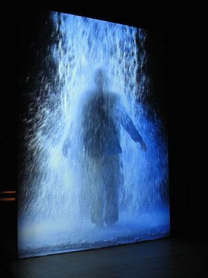 Bill Viola, The Crossing, 1996, video/sound installation (photo: stunned, CC BY-NC-SA 2.0)