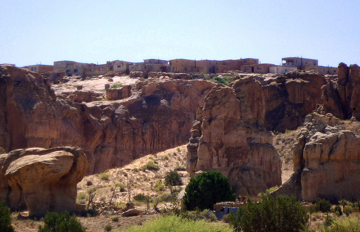 View of Acoma Pueblo, New Mexico