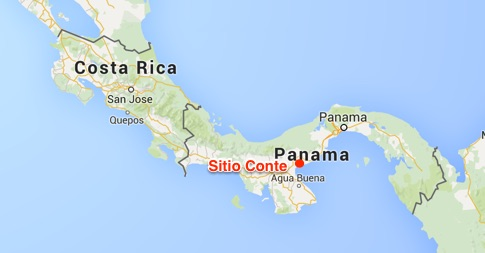 Map showing the location of Sitio Conte