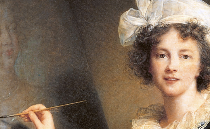 Detail, Elizabeth Louise Vigée Le Brun, Self-Portrait, 1790, oil on canvas, 100 x 81 cm (Galleria degli Uffizi)