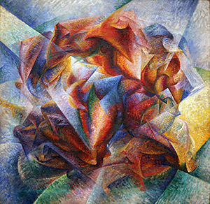 Umberto Boccioni, Dynamism of a Soccer Player, 1913, oil on canvas, 193.2 x 201 cm (The Museum of Modern Art, New York)