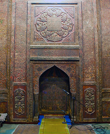 Mihrab, Great Mosque of Xi'an, China, 1392 (photo: Syed Husain Quadri, CC BY-NC-SA 2.0)