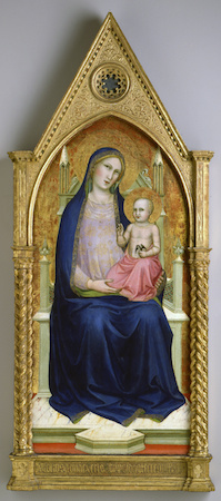 Lorenzo Monaco, Madonna Enthroned (from a ten-part altarpiece), 1390-1400, 61 x 123.7 cm (The Toledo Museum of Art)
