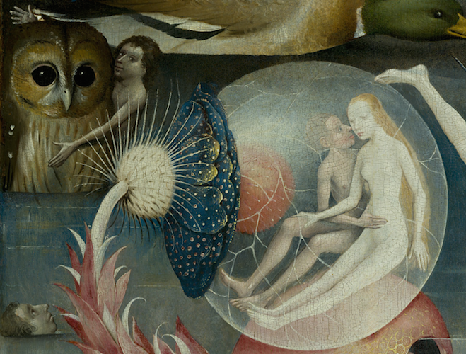 Detail, Hieronymus Bosch, The Garden of Earthly Delights, c. 1480-1505, oil on panel, 220 x 390 cm (Prado)