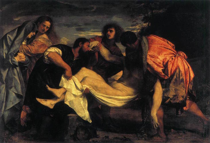 Titian, The Entombment of Christ, c. 1520, oil on canvas, 148 x 212 cm (Louvre, Paris)