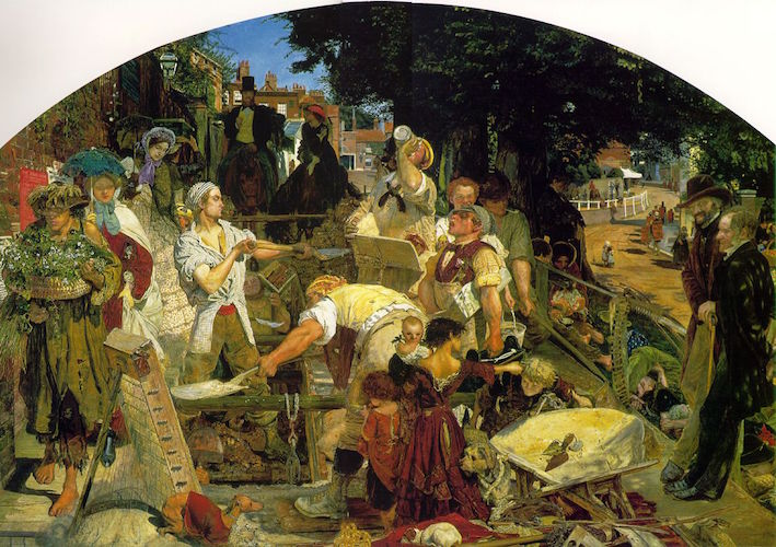 Ford Madox Brown, Work, 1852-65, oil on canvas, 137 x 197.3 cm (Manchester City Art Galleries, Manchester)